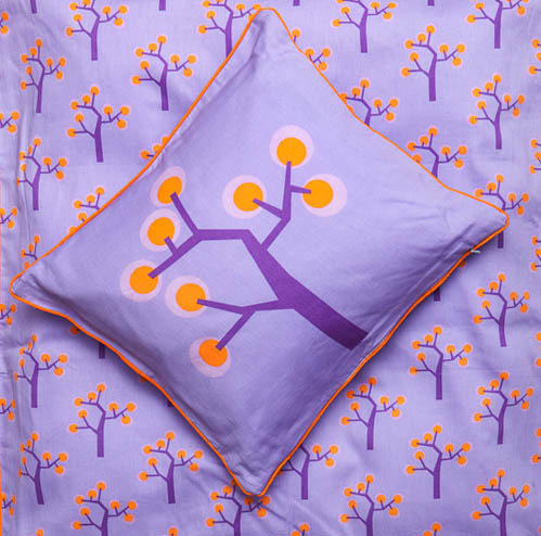 Junior bedding Cover - Graphic tree purple