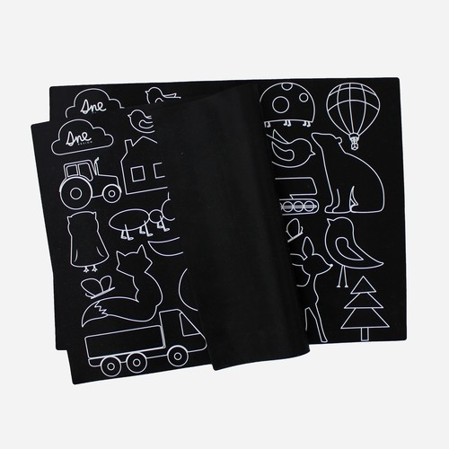 SNE design Placemat-fantasy forest black