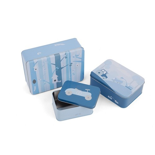 SNE design Tin case set-blue